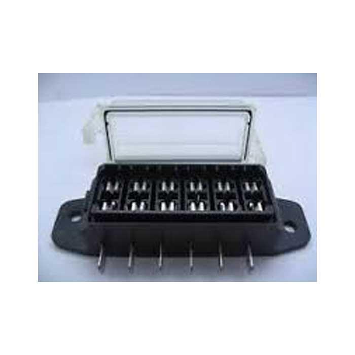 6 way standard blade fuse box with waterproof cover 12v. Black Bedroom Furniture Sets. Home Design Ideas